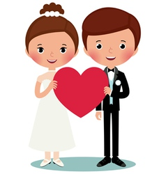 Groom and bride vector image vector image