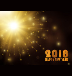 new year 2018 gold glitter background vector image vector image