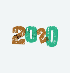 2020 concept stamped word art vector