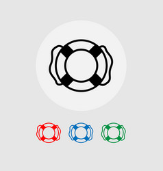 a set of lifebuoy icons vector image
