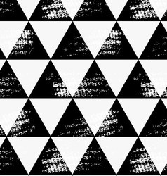 Abstract black triangles with grunge vector image