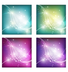 Abstract freshness background with shiny bokeh vector image vector image