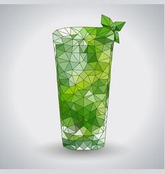 abstract polygonal tirangle cocktail mojito vector image