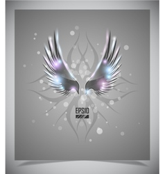 Abstraction grey background with wings vector