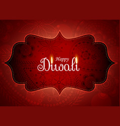 amazing diwali greeting background with paisley vector image vector image