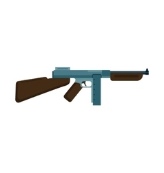 Assault rifle icon vector