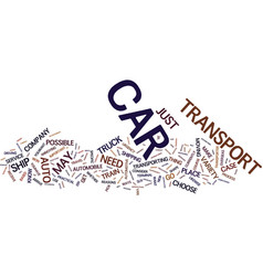 Auto transport is easy and safe text background vector