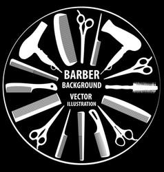 Background for barber and hairdresser vector