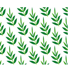 bamboo leaves pattern vector image