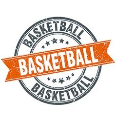 Basketball round orange grungy vintage isolated vector