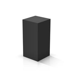 Black cuboid vector