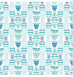 blue wave pattern line shapes with lilac vector image