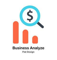 Business analyze flat vector