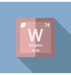 Chemical element Tungsten Flat vector image