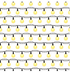 Christmas light bulbs seamless pattern colorful vector