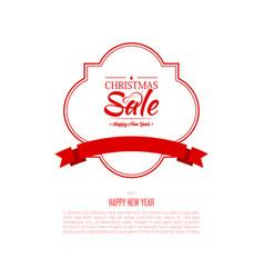 christmas sale frame poster vector image