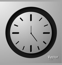 Clock face with shadow on white background vector