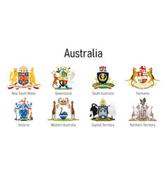 Coat arms state australia all vector