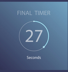 countdown circle timer vector image