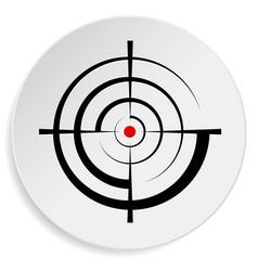 Crosshair reticle viewfinder target graphics vector