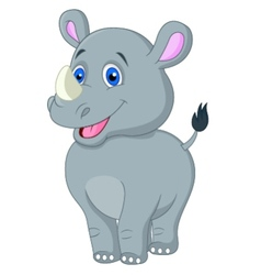 Cute barhino cartoon vector