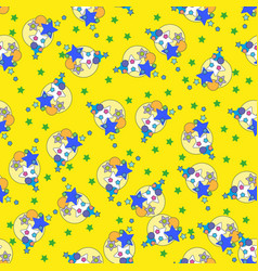 cute stars seamless pattern nursery vector image