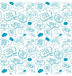 doodle seamless pattern with speech bubbles vector image