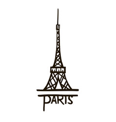 Eiffel tower hand drawn vector