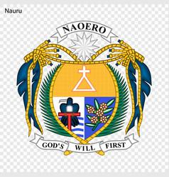 Emblem nauru vector
