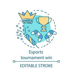 Esports tournament win concept icon vector