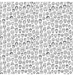 faces - seamless background vector image