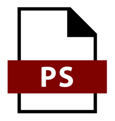 File name extension ps type vector