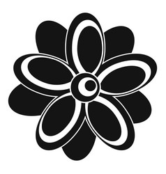 flower icon simple style vector image