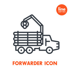 forwarder line icon isolated over white vector image