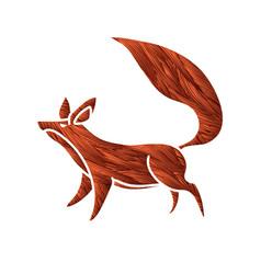 fox cartoon graphic vector image