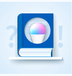 Frequently asked questions icon blue book vector
