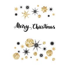Greetings christmas card vector
