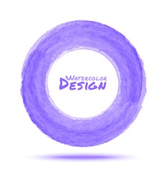 Hand drawn watercolor light violet circle design e vector