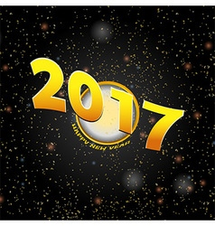 Happy New Year Twenty Seventeen background vector image