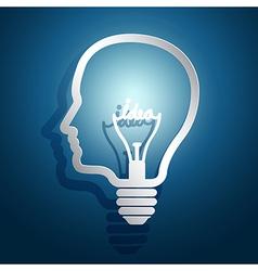 Head idea3 vector image