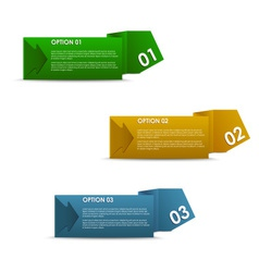horizontal of colorful paper options vector image