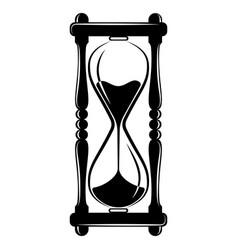 hourglass sandglass timer icon vintage vector image