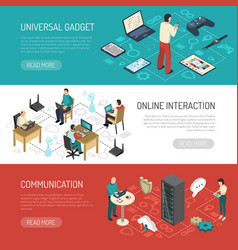 Internet communication networks banners vector