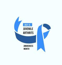 July is national juvenile arthrits awareness vector