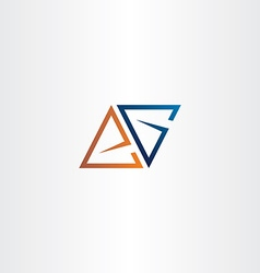 Letter a or e and letter g logo triangle vector