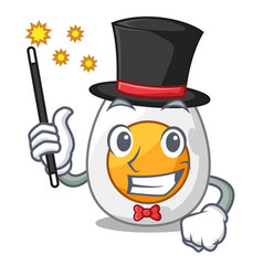 Magician freshly boiled egg isolated on mascot vector