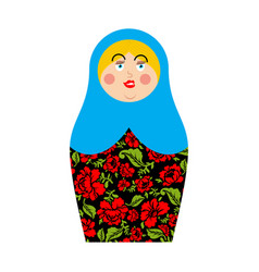 Matryoshka russian folk doll national toy vector