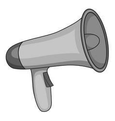 megaphone icon monochrome vector image