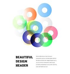 Modern poster design vector image