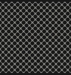 monochrome seamless pattern circular lattice mesh vector image
